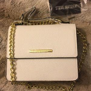 Small white steve madden purse